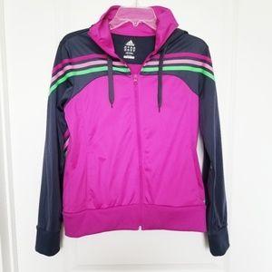 Adidas | Purple Full Zip Hoodie Sweatshirt